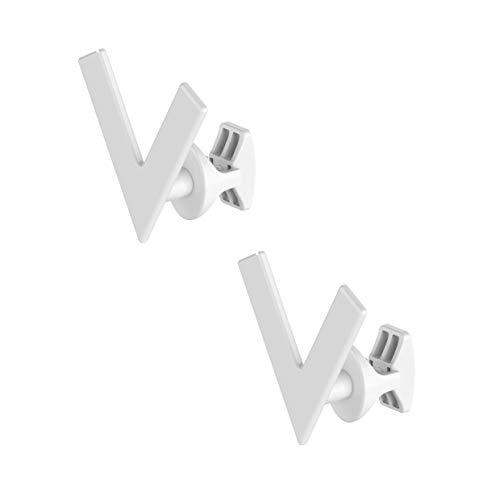 Coppia Handy Minimal - Portasciugamani bianchi, si Fissano Direttamente sul Radiatore Scaldasalviette - Modello Vee