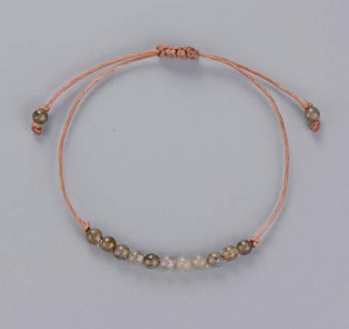 ZGRJIUERYI Steenarmband, handgemaakt, Bohemen, natuursteen, instelbaar, eenvoudige armband, string, armband, labradoriet