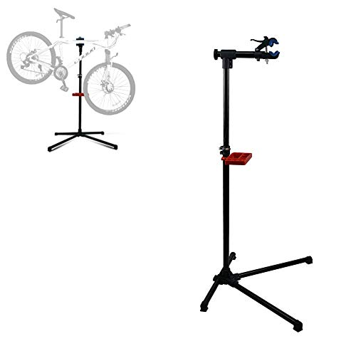 DakRide Adjustable Pro Mechanic Bike Repair Stand Maintenance Rack Workstand W/Tool Tray & Telescopic Arm Extensible Bicycle Repair Stand