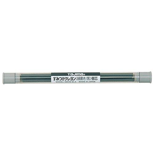 タジマ(Tajima) すみつけクレヨン(細書き4.0mm) 黒替芯(3本入) SKHS-BLA