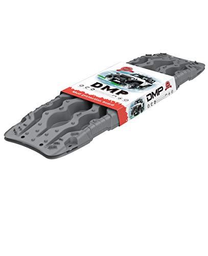 SLLOY 車緊急脱出マット 雪道対策 スノーヘルパー 雪脱出具 砂/雪路の脱出に 滑り止めマット 4WD ノンスリップ マット タイヤ滑り止め 2点セット (バージョン2.0グレー)