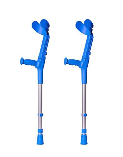 Forta, Muletas 2 uds azules de codo birregulables infantiles