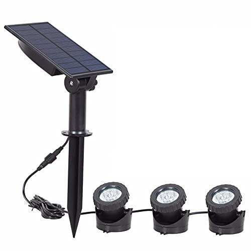 NGLSCXR Luces de Estanque Solar,DIRIGIÓ Focos, luz de Estanque Sumergible 3 en 1, ángulo de iluminación Ajustable para la Fuente de jardín, para la vía del jardín del Estanque (tamaño : Si)