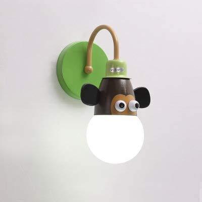 Wandlamp E27 LED Moderne kwekerij wandlamp Creative interieurdecoratie Dieren slaapkamer bedlampje,A
