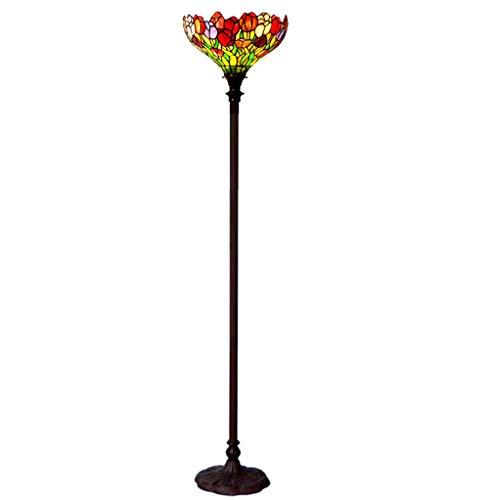 YYH Lámpara Antigua Europea Retro, lámpara de pie Retro, Tulipanes de la lámpara del Dormitorio de la Sala