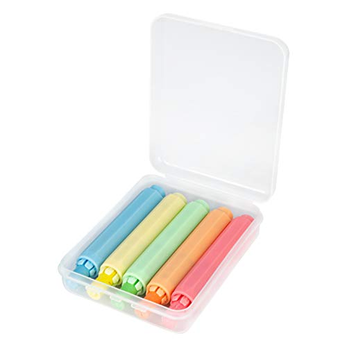 """WEIMY 5 Pack Adjustable Chalk Clip Chalk Holder for Teachers Kids School Office Drawing Board, 5 Color, 3.7"""" x 0.6"""" (Pink Orange Green Blue Yellow)"""