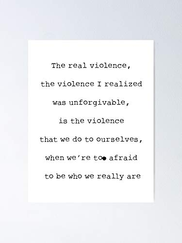 AZSTEEL Sense8 - The Real Violence Quote Poster Poster 11.7 * 16.5