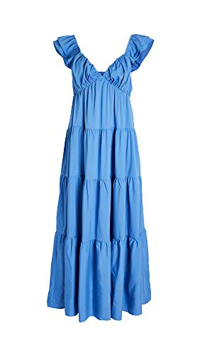 English Factory Women's Ruffle Sleeve Maxi Dress, Blue, Small