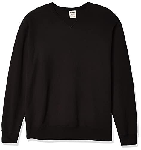 Hanes Men's Comfortwash Garment Dyed Sweatshirt, Black, Medium