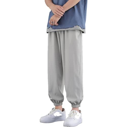 Yikesnt Pantaloni Sportivi Casual da Uomo Primavera e Autunno Outdoor Running Wild Pantaloni Sottili Tasche con Coulisse 3XL