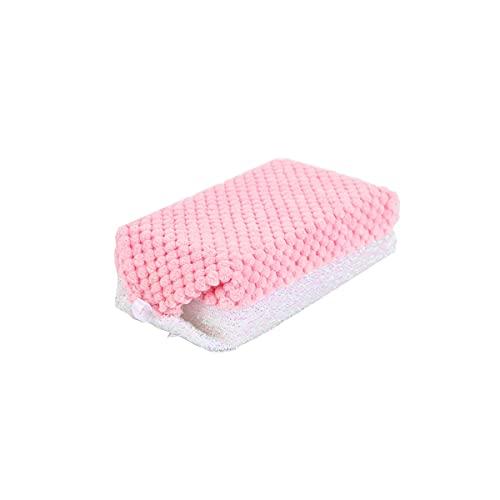 Esponja de descontaminación de doble cara, estropajo para el hogar, esponjas para fregar Paño para platos de cocina Esponja para lavar platos Esponja para limpiar olla Espesamiento, limpieza profunda
