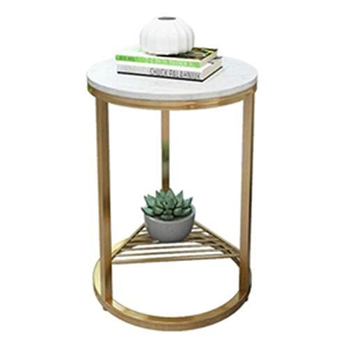 Tables basses Côté Canapé Petite Mobile Petite Table Ronde Fer Forgé Lit Chambre Petite Table Cadeau (Color : Gold, Size : 40 * 40 * 55cm)