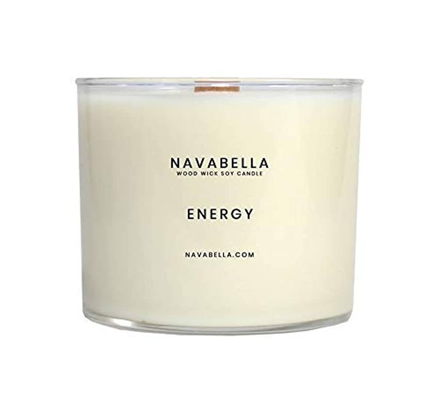 Sweet Orange 100% All-Natural Soy Candle, Up to 100 Hours of Energy Aromatherapy to Stimulate Your Mind + Body, Handmade w/Essential Oils of Sweet Orange, Tangerine + Goji Berry, Wood Wicks, 17 Oz.