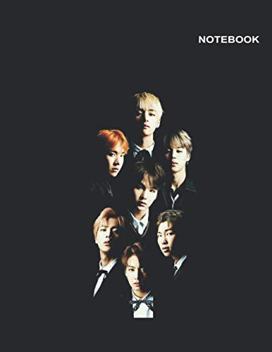 "BTS wings notebook: 110 Pages, College-Ruled Notebook for student, 8.5"" x 11"" (Letter), Bangtan Sonyeondan Design Cover."