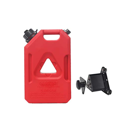 DLYDSS 1Gal/2Gal/3Gal Red Gas Tank, Portable Plastic Gasoline Tank, Emergency Backup Fuel Can, for Motorcycles and Automobiles (Size : 1Gal)