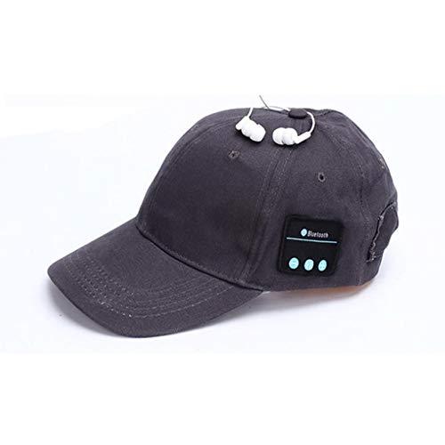 LETAMG Hut Headset Kopfhörer mit Mic Hand-freies Musik Mp3 Sport Smart Kappe Baseball Kappe Headset Sport Hut Bluetooth Hut Kappe (Schwarzer Kaffee)