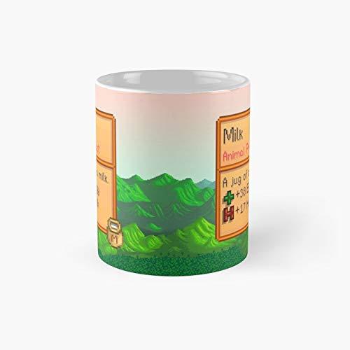 Stardew Valley - Taza clásica de leche con el mejor regalo, tazas de café divertidas, 11 oz