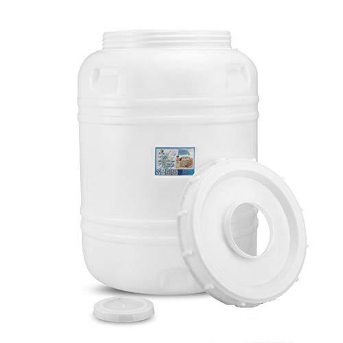 Nologo Water Storage Bucket - Home Vertical plastic Water Storage Tank -Food Grade HDPE Rotomolding Container Water Bucket -Wine Making Enzyme Fermentation Barrel 300-Type (Size:265 Kg-530 Jin)