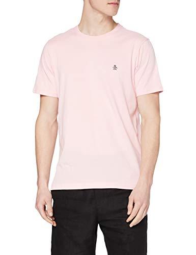 ORIGINAL PENGUIN Embroidered Logo tee Pin Point-Camiseta con Logotipo Bordado, 673 Parfait Rosa, M para Hombre