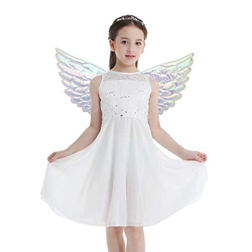 MSemis Disfraz de Unicornio para Niñas Alas de Ángel Niños Disfraz Princesa Hada Niña Alas Brillantes...