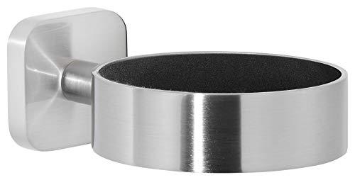 tesa ESTEETIC Fönhalter in Edelstahloptik, edles Design, inkl. Klebelösung, starker Halt, 50mm x 86mm x 130mm