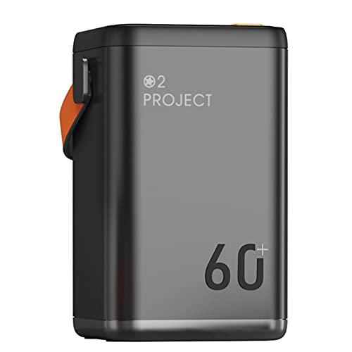 AEU 60000mAh Powerbank Batería Externa Tipo C Micro USB Cargador Portátil Móvil con 5 Puertos Smart Salidas y 3 Entradas Compatible con Huawei y Smartphone,Negro