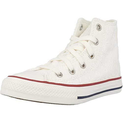 Converse ALL Star Hi Bambina 668030C Bianco Bianco 28 EU
