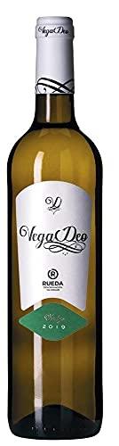 VegaDeo Verdejo D.O. RUEDA - Vino blanco joven, seco y elegante - 100% Verdejo - Vendimia nocturna - 1 Botella - 750ML - Cosecha 2019.
