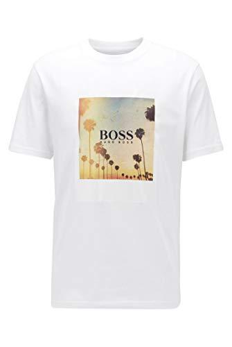 BOSS TSummer 4 Camiseta, Blanco (100), XXL para Hombre