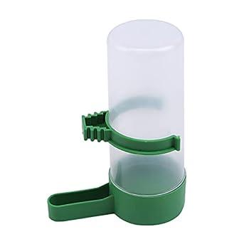 MNSYD Pet Oiseaux en Plastique Buveur Chargeur Automatique Mangeoire Eau Abreuvoir Clip pour Perroquets Perruche Calopsitte Inséparables,Vert 1