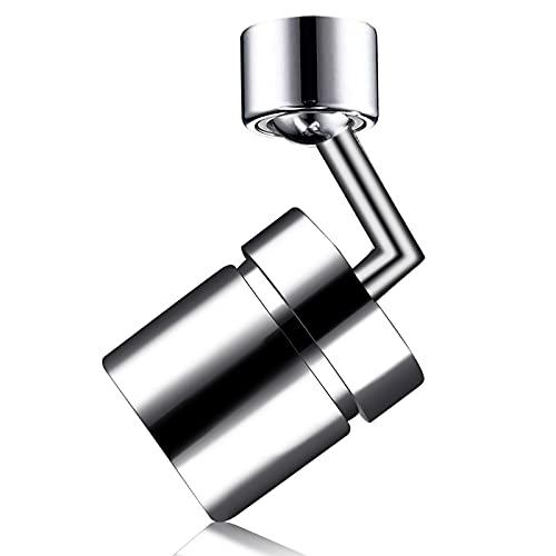 MOGADEE Aireador de grifo de agua giratorio de 720 grados, grifo a prueba de salpicaduras, para baño y cocina, rosca interior de 22 mm y rosca exterior de 24 mm