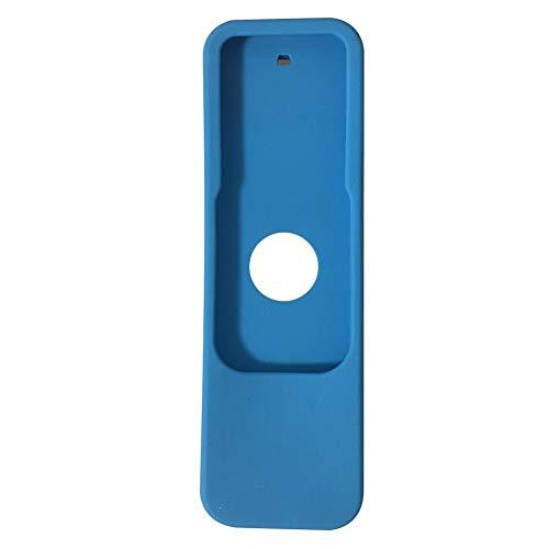 MCLseller - Carcasa protectora para Apple TV 4 (silicona), diseño de mando a distancia, No nulo, azul, Tamaño libre
