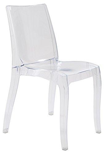 GBSHOP Sedia da Interni Trasparente in policarbonato Design (Ordine Minimo 2 Pezzi)