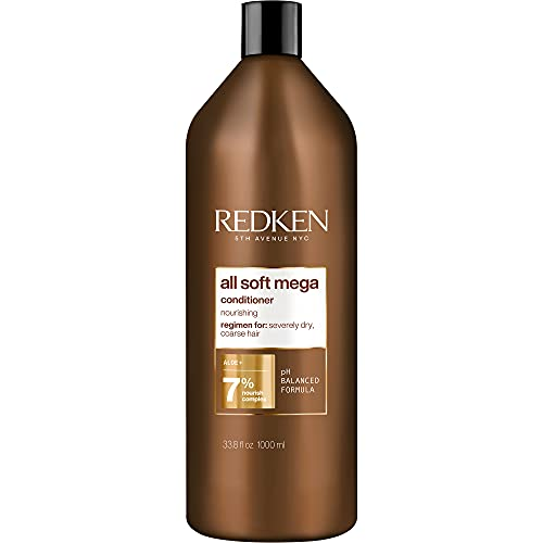 Redken All Soft Mega Conditioner | For Extremely Dry Hair | Nourishes & Softens Severely Dry Hair | With Aloe Vera | 33.8 Fl Oz