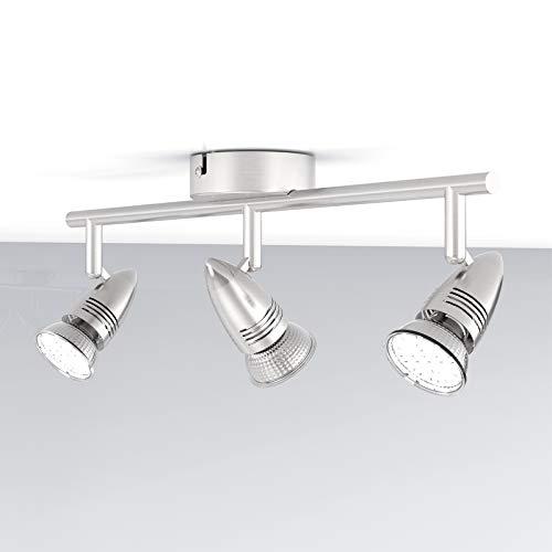 NeUe Dawn LED Deckenleuchte 3 Flammig 3W Leuchtmittel GU10 LED, Warmweiß, LED Deckenlampe Drehbar LED Deckenspot LED Deckenstrahler schwenkbar LED Leuchte [Energieklasse A+]
