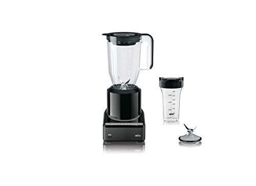 Braun JB7201BK PureMix Power Blender with Plastic Jug & Smoothie2Go Blending Cup, Black