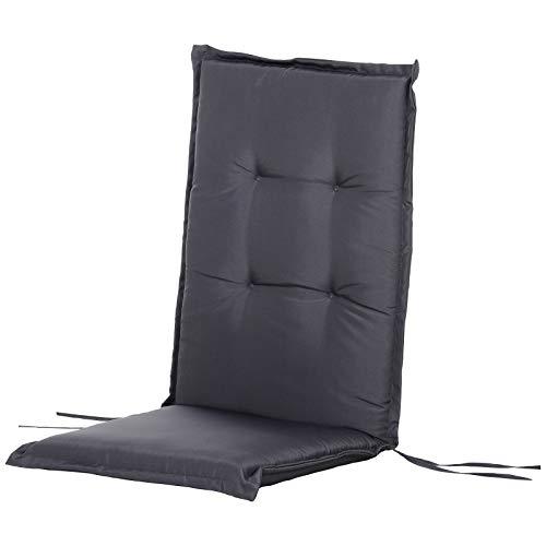Outsunny HOMCOM Set 2 Cuscini per Sedia a Sdraio da Giardino, Materassini Imbottiti Impermeabili Antimuffa Antiscivolo 120x50x6cm