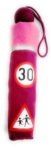 Kinderschirm Schirm Taschenschirm Regenschirm Kinder blau pink Lichtreflex (pink)