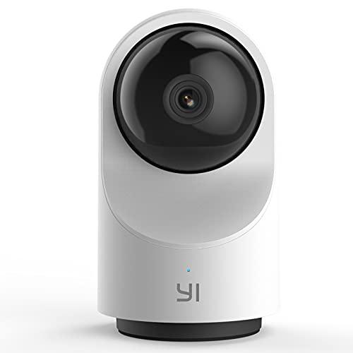 YI Cámara de Vigilancia WiFi 360° Dome X Cámara IP Interior Pan-Tilt 1080P Cámara Vigilancia Inalámbrica con Micrófono y Altavoz Visión Nocturna Detección de Movimiento Compatible con iOS, Android