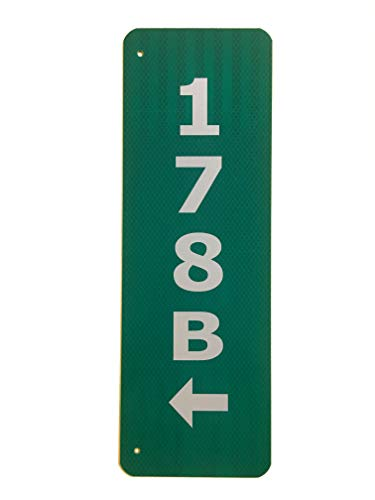 Granite City Graphics Green 911 Sign with Arrows Pointing to The Holes