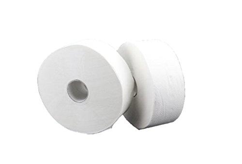 Blanc HYGIENIC • Jumbo-Toilettenpapier Maxi • 18 Rollen à 300m • weiß • reißfest & saugstark • Toilettenrollen für Jumbo-Toilettenpapierspender