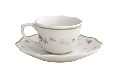 Brandani 53413 Lot de 2 tasses à café pour femme, rose en porcelaine