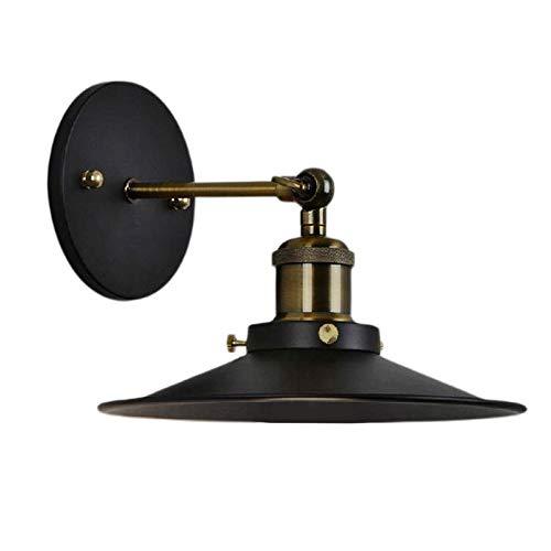 FLAMEER Lámpara de Pared E27 de Hierro Negro de Metal, Luces de Pared oscilantes, Accesorios Decorativos de iluminación