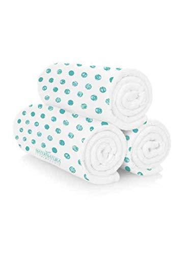 Maternatura Asciugamano per Capelli 100% Cotone - Telo Magico Pressato Che Si rigonfia in Acqua - Perfetto da Portare in Viaggio - per Capelli Corti e Lunghi - 1 x 50×80 cm