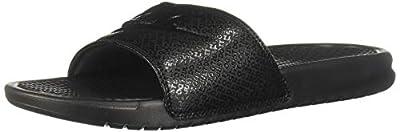 Nike Men's Benassi Just Do It Athletic Sandal, Black, 10 D(M) US