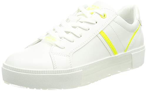 MARCO TOZZI 2-2-23703-26 Sneaker, Zapatillas Mujer, Color Blanco neón, 36 EU