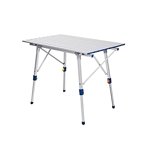 Pkfinrd Folding Table Portable Indoor Outdoor Aluminum Adjustable Heights Picnic Table for Outdoor Beach Backyard