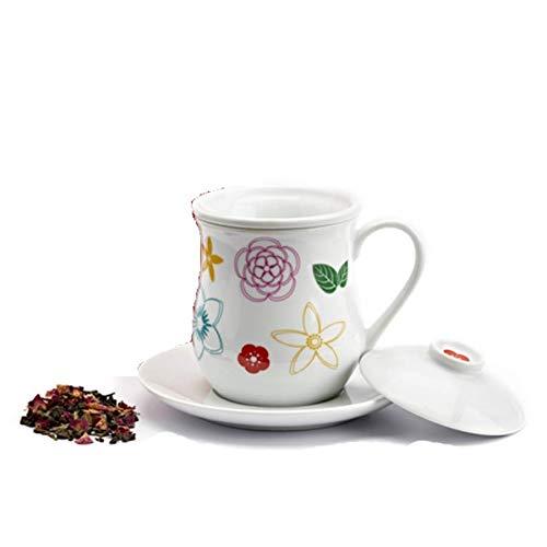 tè Teetasse I Parfüm (400 CCM) Teller und Filter aus Porzellan die Via Florenz