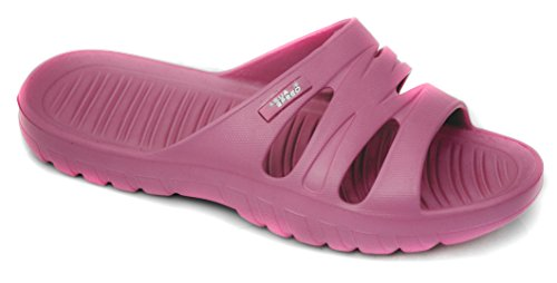Aqua-Speed Vena Damen Badeschuhe/Badelatschen mit Anti-Rutsch Sohle (pink, 36)