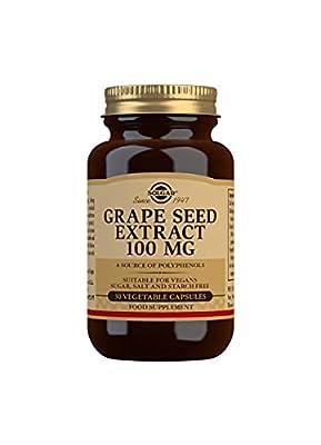 Solgar Grape Seed Extract 100 mg Vegetable Capsules - Pack of 30